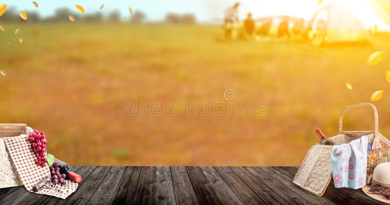 Picnic at the park on vacation summer holiday. royalty free stock images