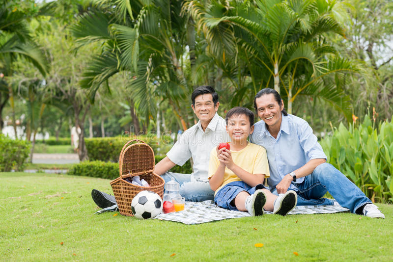 Picnic in the park royalty free stock image