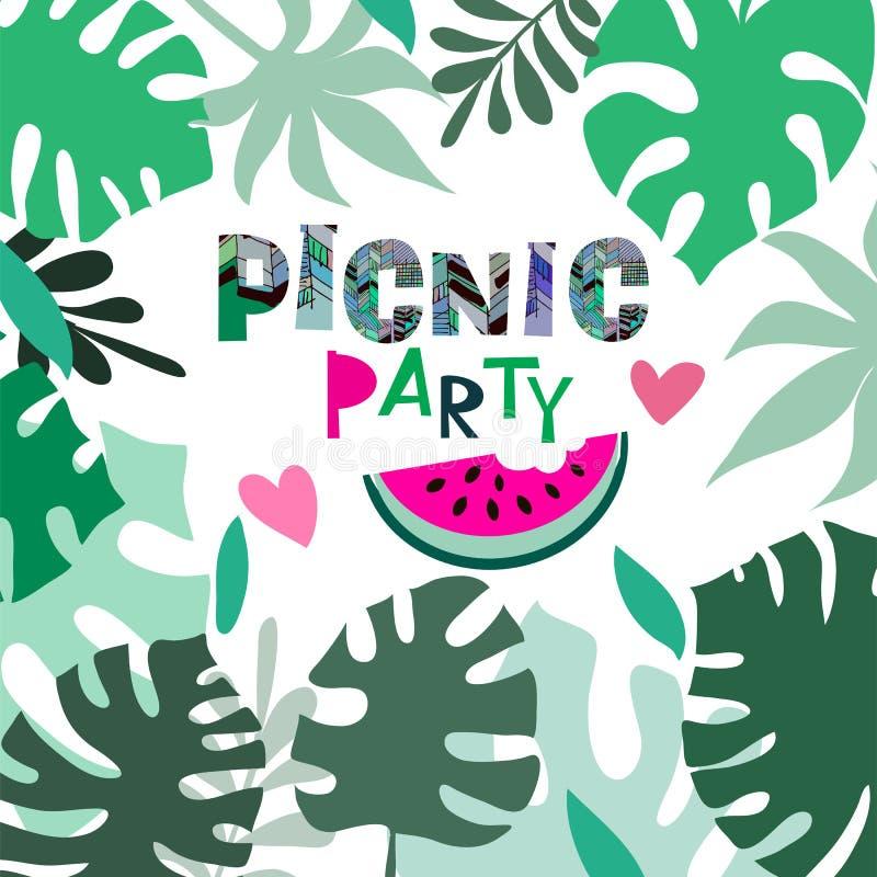 Picnic party5 royalty illustrazione gratis