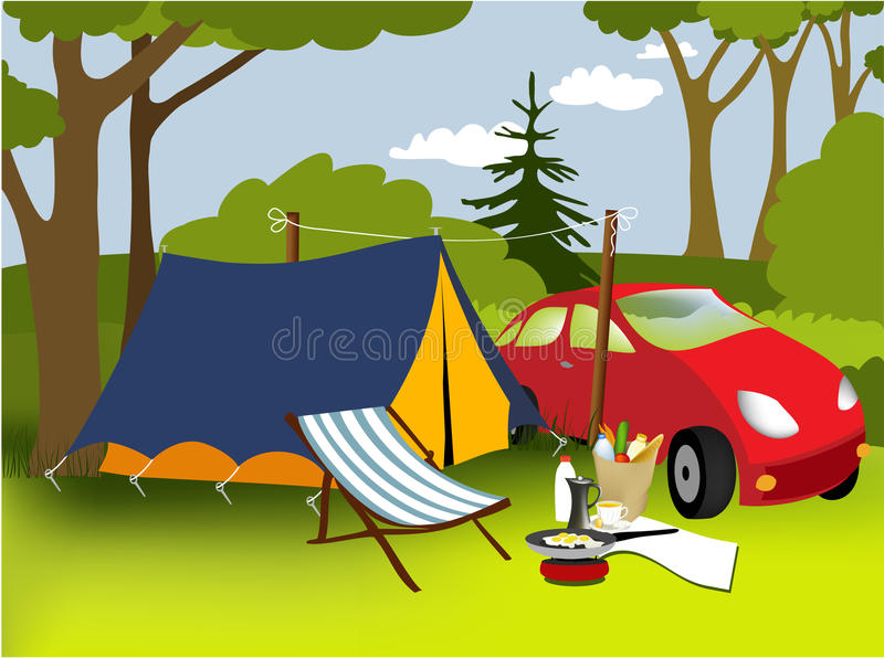Picnic Place Royalty Free Stock Photo
