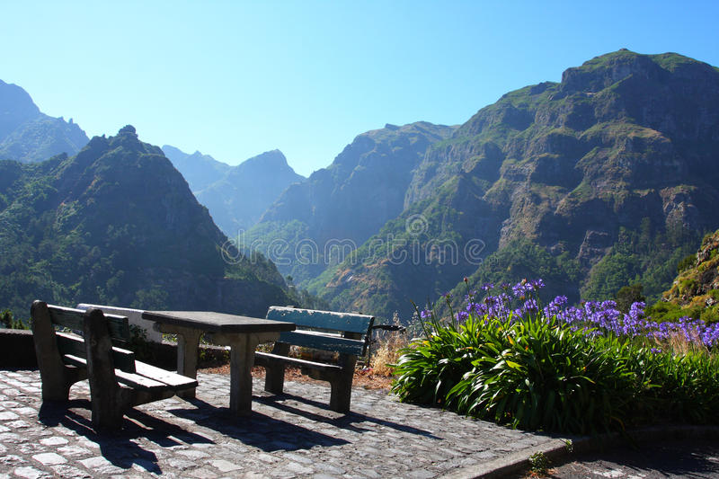 Picnic place in Madeira royalty free stock image