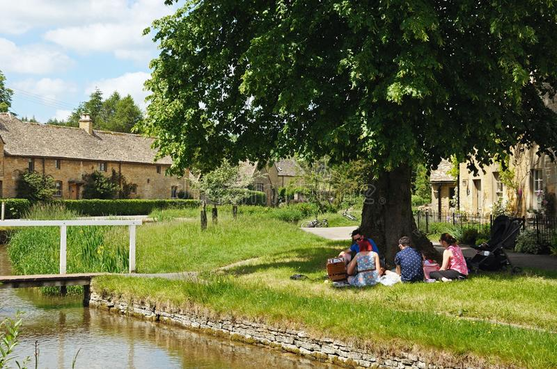 Picnic by the river, Lower Slaughter. royalty free stock photography