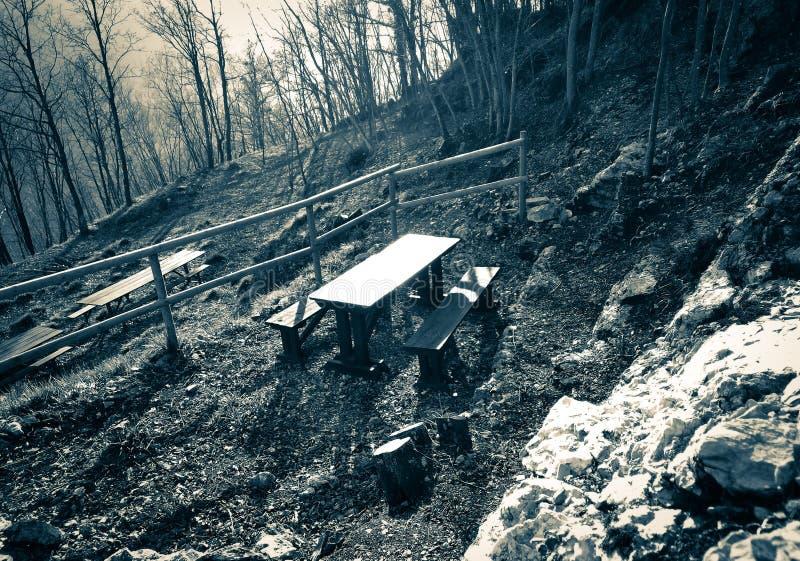 Picnic sulla montagna fotografia stock libera da diritti