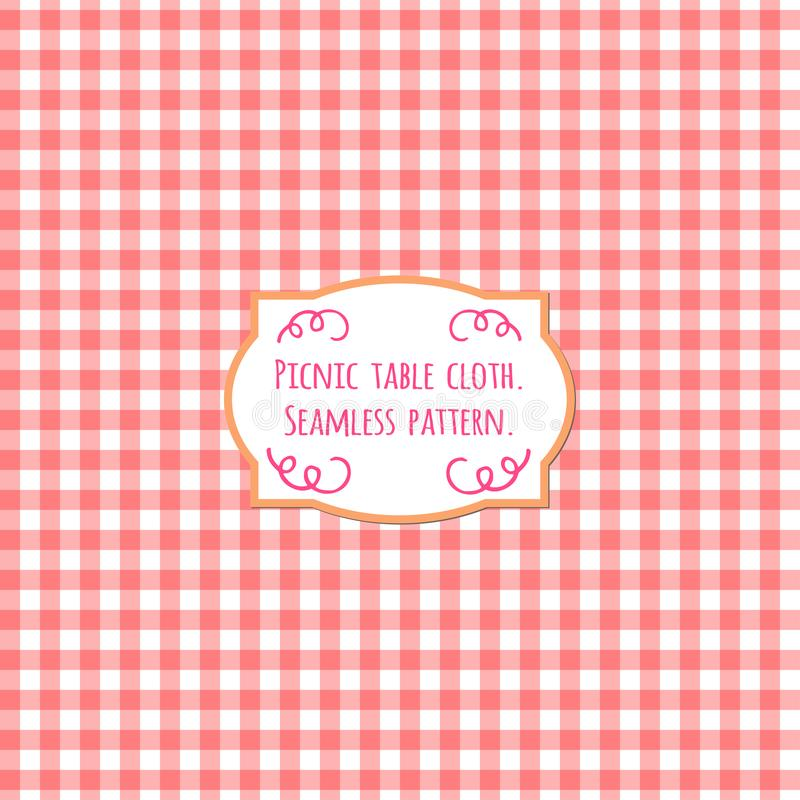 Picnic table cloth. Pastel color square seamless pattern. royalty free illustration