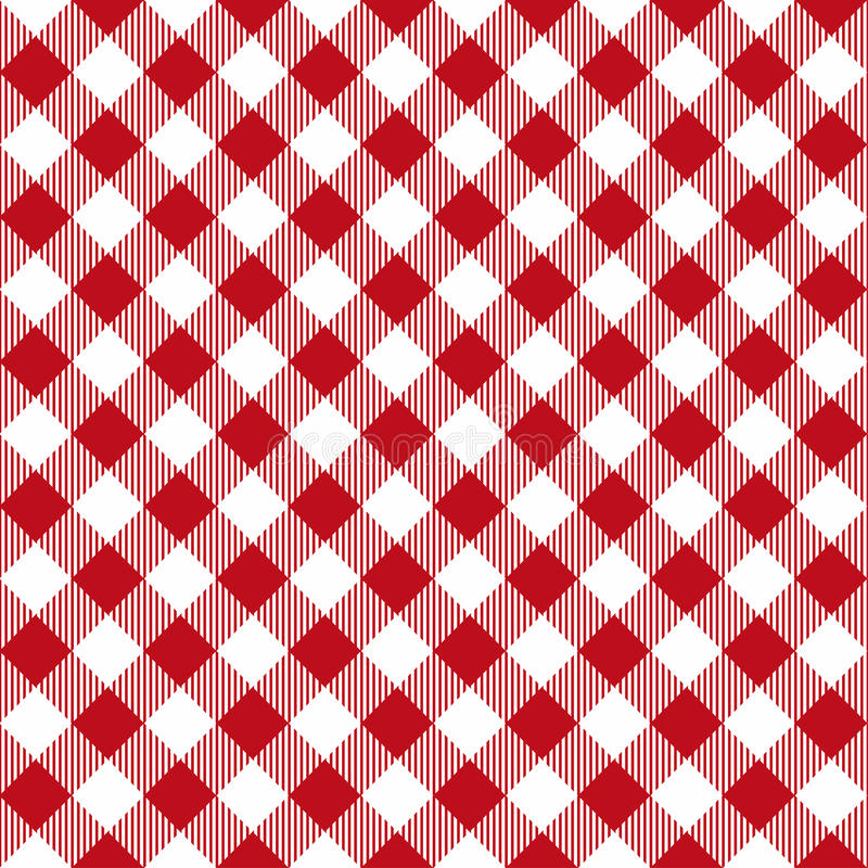 Free Picnic Table Cloth Seamless Pattern. Red Picnic Plaid Texture Stock Photos - 97256943