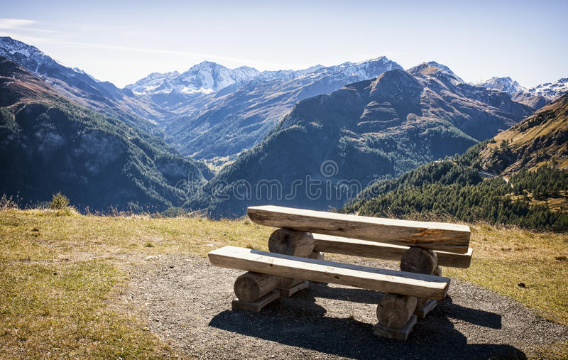 Download Picnic table stock photo. Image of color, hill, bench - 35290496