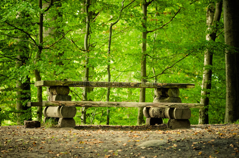 Picnic table royalty free stock images