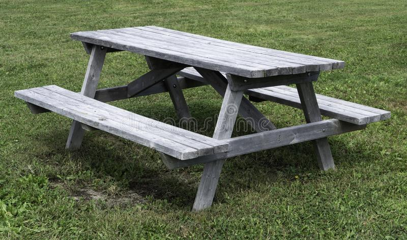 Empty picnic table in the park stock image