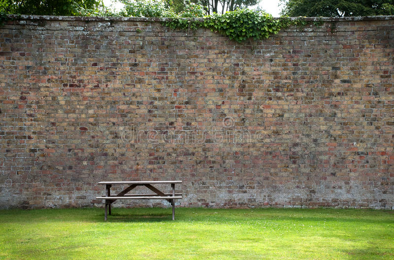 Download Picnic Table And Wall Stock Images - Image: 29184184