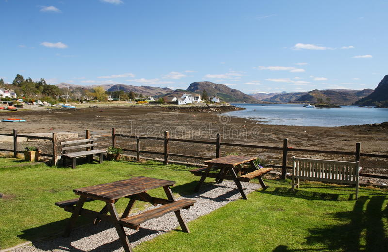 Download Picnic tables stock photo. Image of lawn, buildings, scotland - 24415456