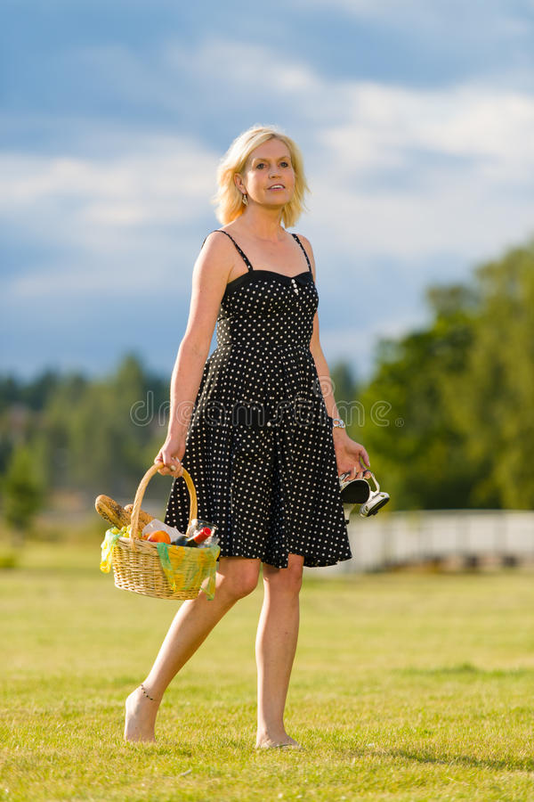 Download Picnic trip stock image. Image of cheerful, basket, person - 26226205
