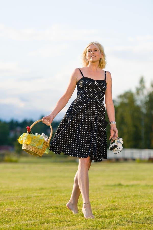 Download Picnic trip stock image. Image of outdoor, basket, dress - 26226281