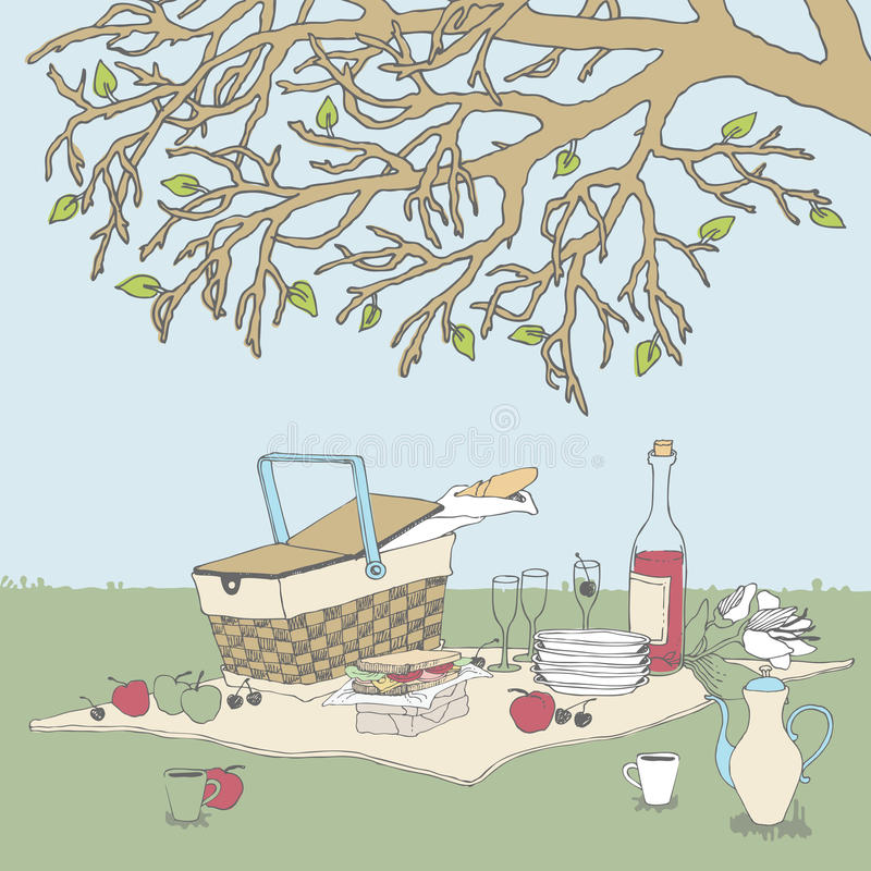Download Picnic Under A Tree Stock Photography - Image: 24470142
