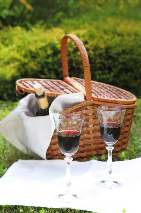 Download Picnic with wine stock photo. Image of rural, bottle - 16388096