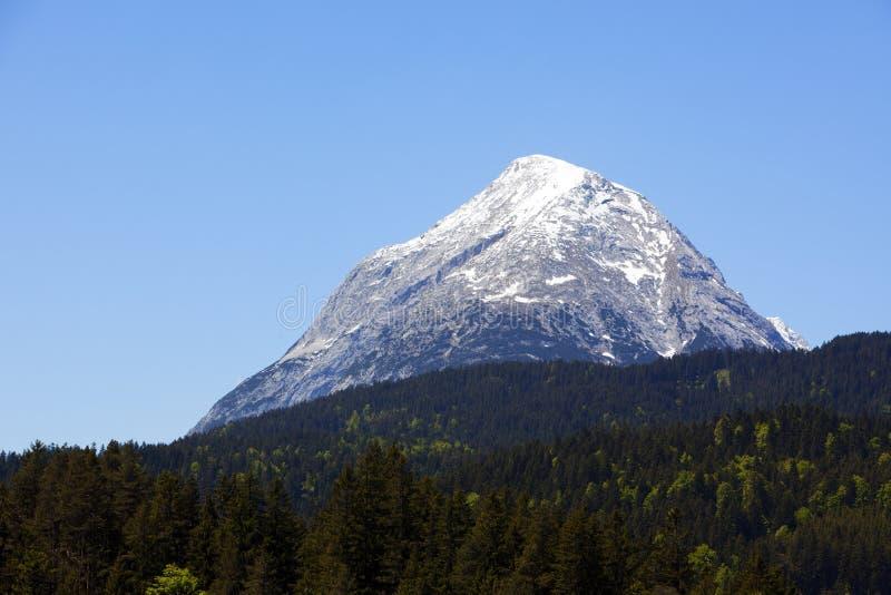 Pico alpino fotografia de stock