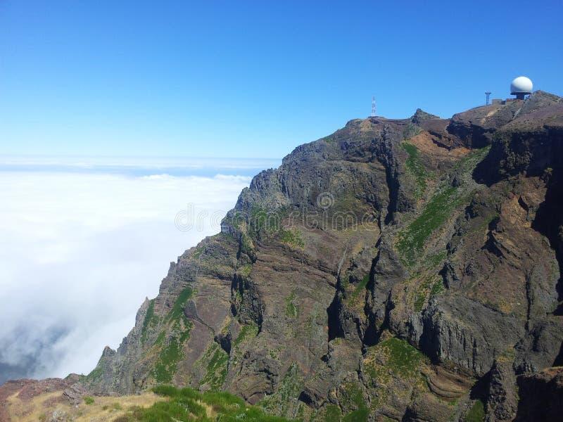 Pico Areeiro royalty-vrije stock foto's