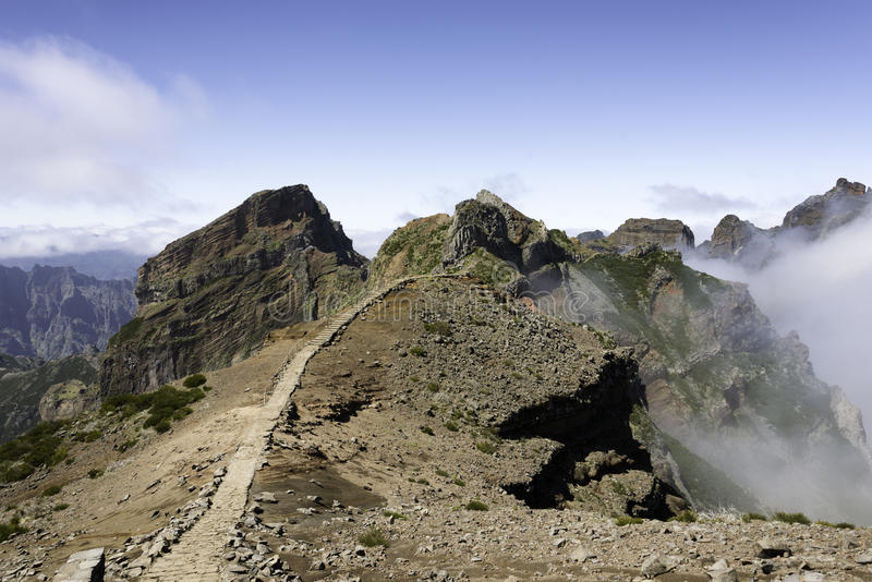 Pico arieiro na Madeira wyspie zdjęcia royalty free