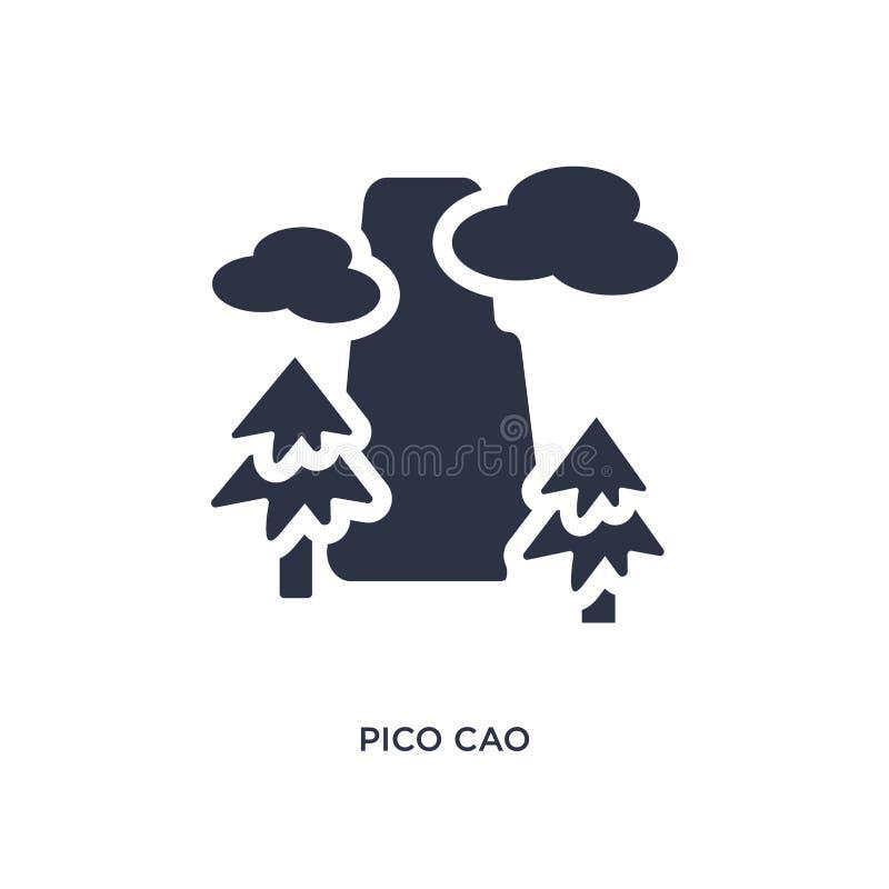 pico cao ikona na białym tle Prosta element ilustracja od kultury pojęcia royalty ilustracja