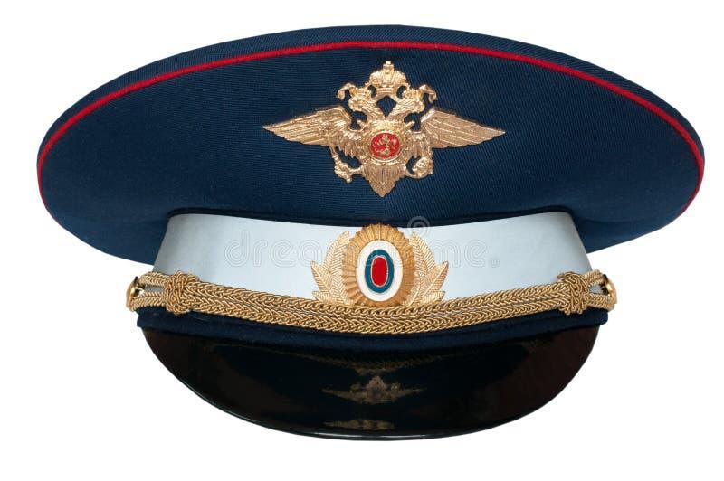 pico-casquillo del oficial ruso del tráfico fotografía de archivo libre de regalías