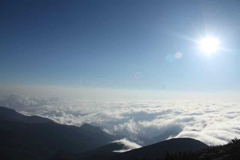 Pico da bandeira, durante o nascer do sol fotos de stock royalty free