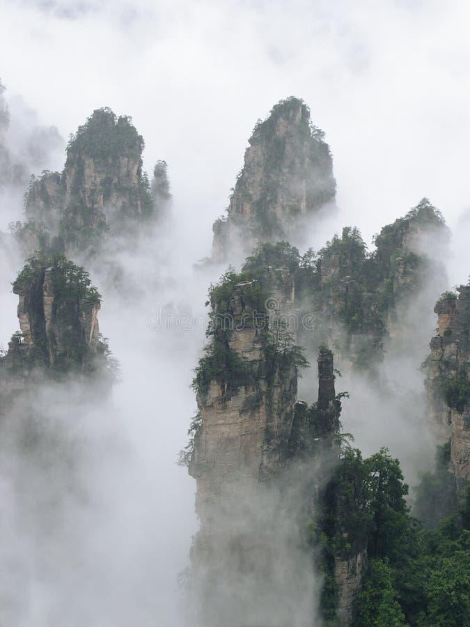 Pico da montanha de Tianzi foto de stock