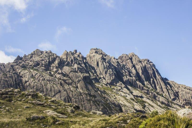 Pico de agulhas pretas Itatiaia imagens de stock
