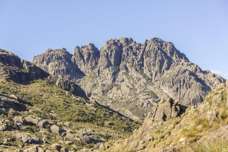 Pico de agulhas pretas Itatiaia fotografia de stock royalty free