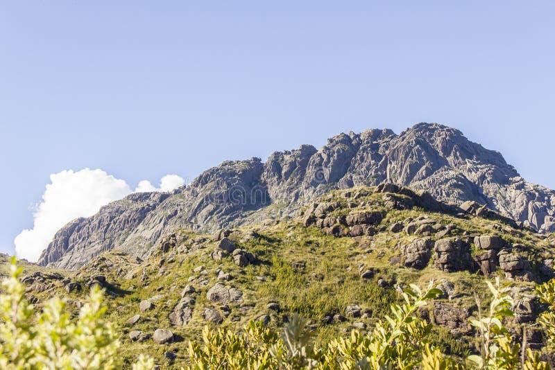 Pico de agulhas pretas Itatiaia fotografia de stock