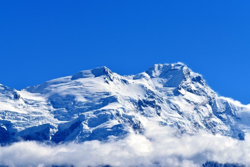 Pico de Annapurna, Nepal imagens de stock