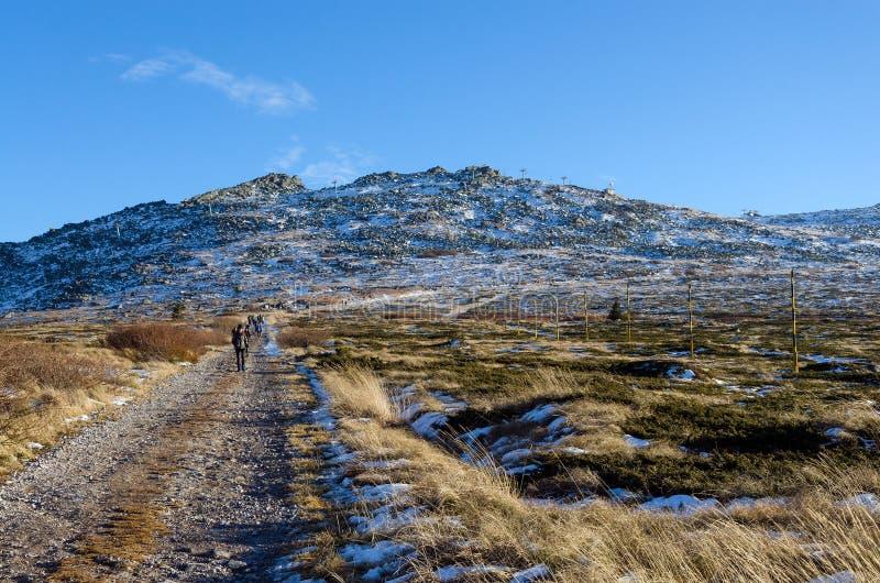 Pico de Cherni Vrah no parque nacional de Vitosha imagem de stock royalty free