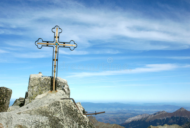 Pico de Gerlach foto de archivo