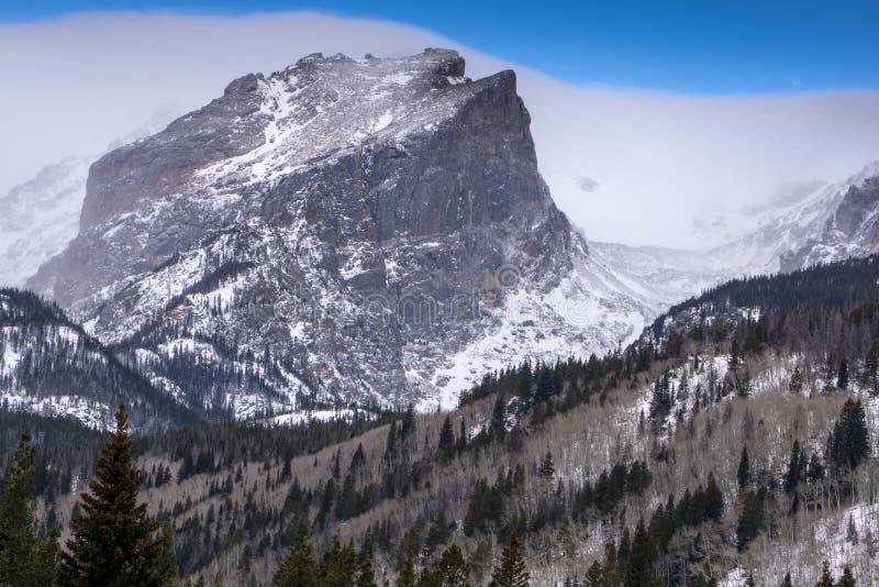 Pico de Hallett - Rocky Mountain National Park fotografia de stock