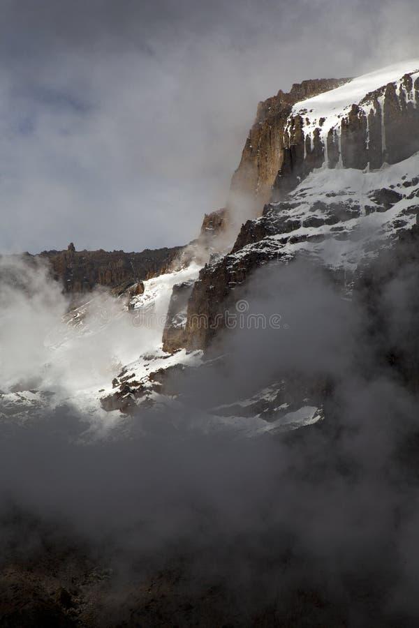 Pico de Kibo imagem de stock royalty free