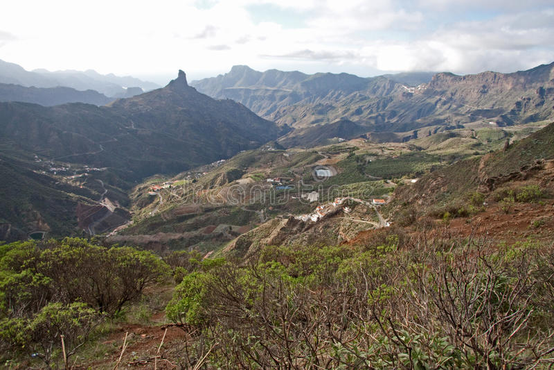 Pico de Las Nievas imagem de stock