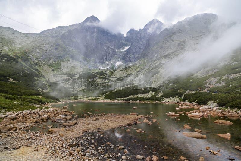 Pico de Lomnicky da montagem no Tatras alto foto de stock royalty free