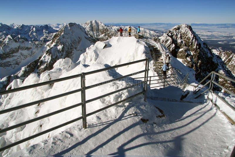 Pico de Lomnicky - Tatras elevado fotos de stock