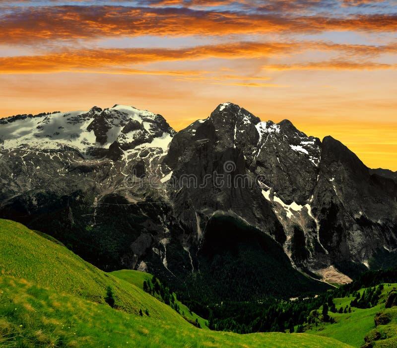 Pico de Marmolada imagen de archivo