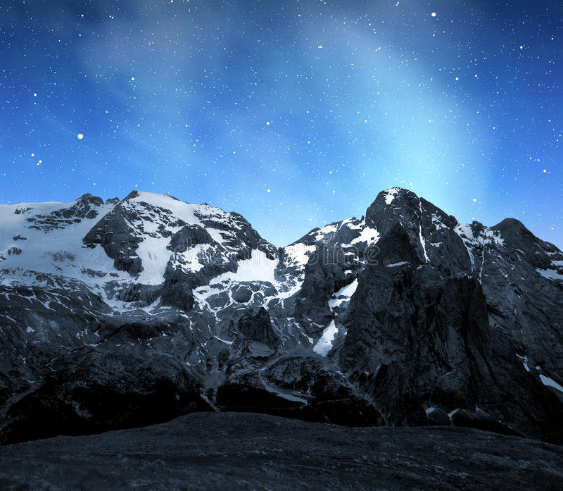 Pico de Marmolada fotografía de archivo