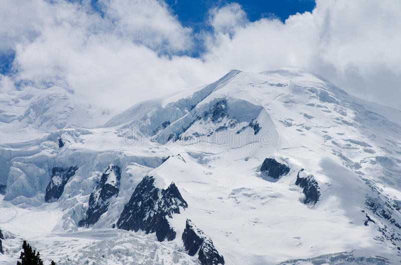 Pico de Mont Blanc fotos de archivo