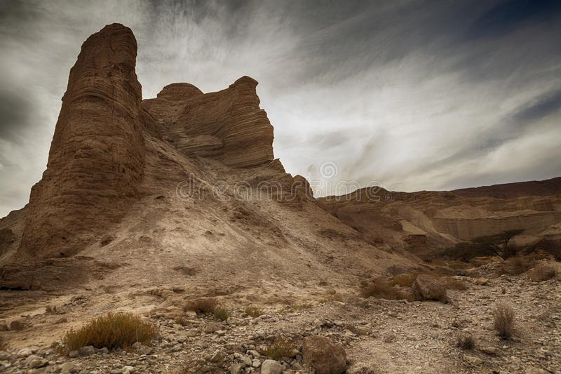 Pico de montaña del desierto fotos de archivo libres de regalías