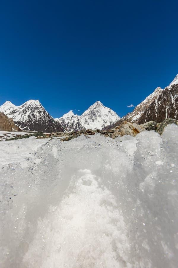 Pico de montaña K2, K2 senderismo, Paquistán, Asia imágenes de archivo libres de regalías