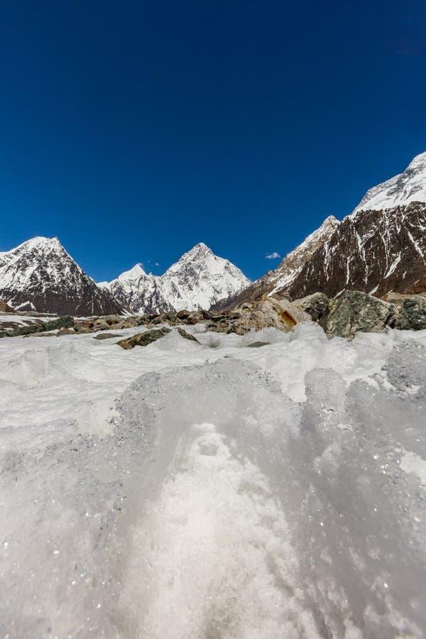 Pico de montaña K2, K2 senderismo, Paquistán, Asia fotografía de archivo