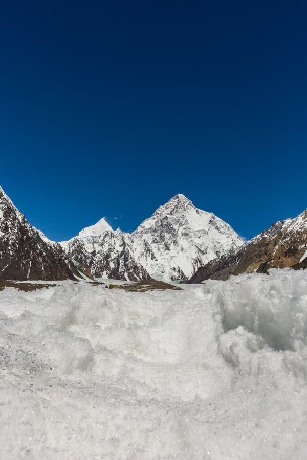 Pico de montaña K2, K2 senderismo, Paquistán, Asia fotos de archivo libres de regalías