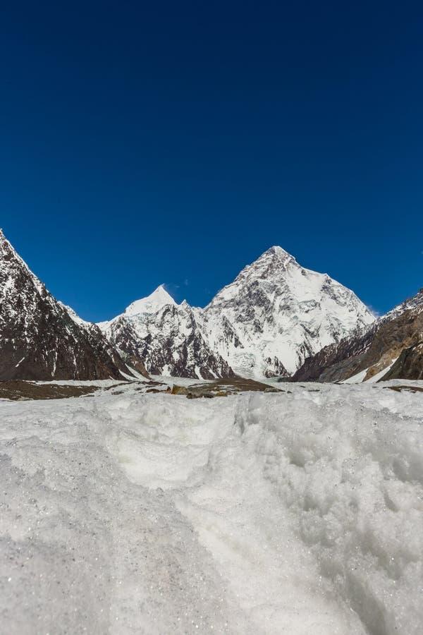 Pico de montaña K2, K2 senderismo, Paquistán, Asia imagen de archivo libre de regalías