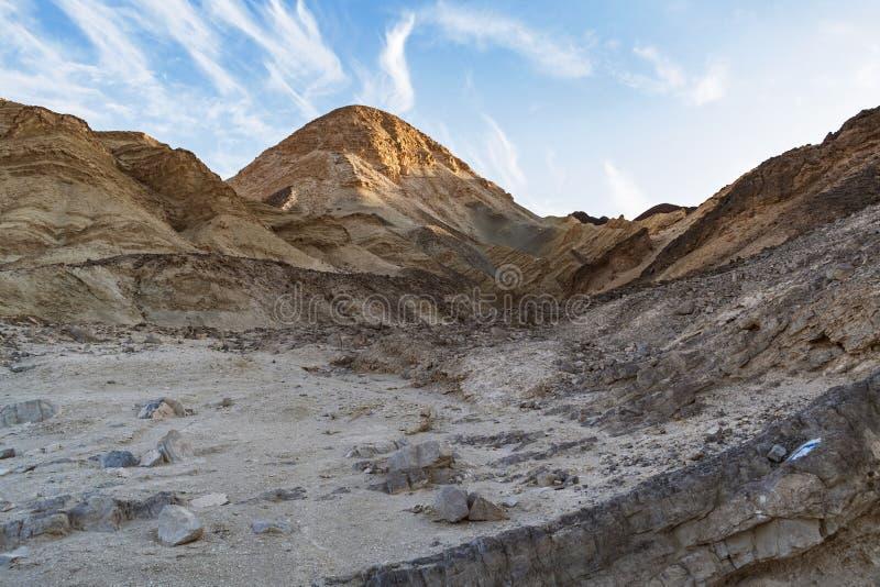 Pico de montanha do deserto perto de Eilat em Israel fotografia de stock