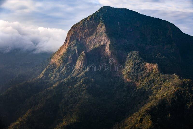 Pico de montanha Indonésia de Muria imagens de stock royalty free
