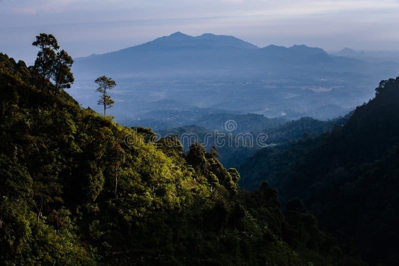 Pico de montanha Indonésia de Muria foto de stock