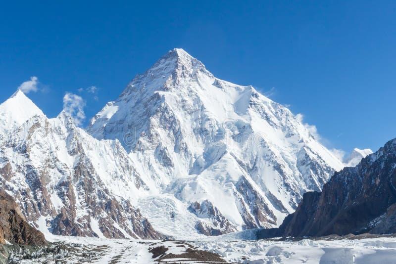 Pico de montanha K2, K2 que trekking, Paquistão, Ásia fotos de stock royalty free