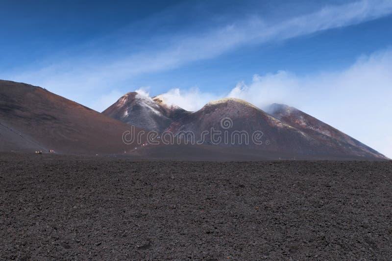 Pico de Monte Etna imagem de stock royalty free