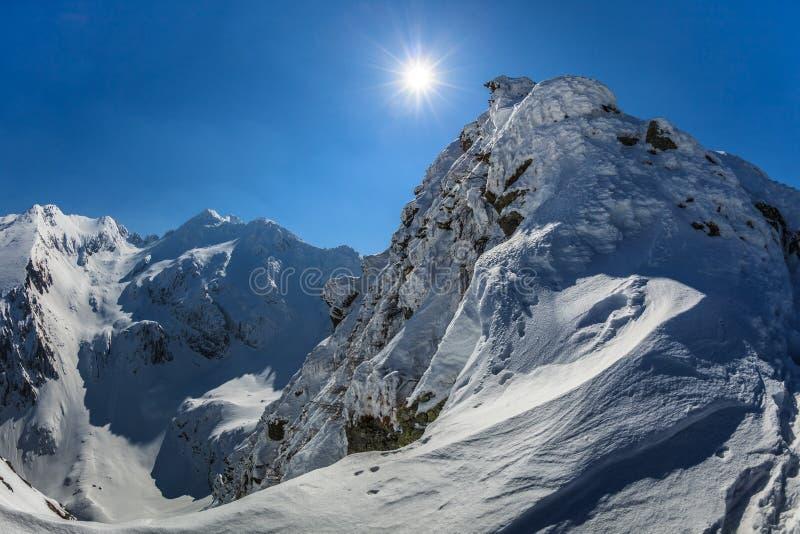Download Pico de Negoiu en invierno foto de archivo. Imagen de cresta - 44853248